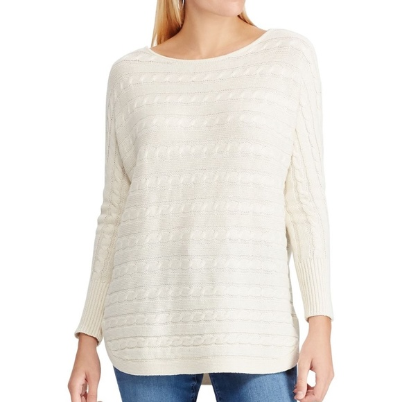 Chaps Womens Relaxed Fit Long sleeve Sweater Top
